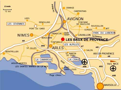 Location baux de provence maison mas entre saint r my - Distance entre marseille et salon de provence ...